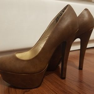 Guess Brown Leather Heels
